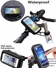 Waterproof Bike Mount Holder Case Bicycle Cover for Several Mobile Phones Black
