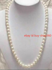 HOT 8-9mm Genuine white akoya pearl necklace 20""