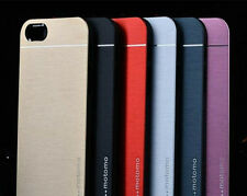 BRUSHED ALUMINUM METAL BUMPER HARD BACK COVER IPHONE 5/5S CASE SHELL SLIM FIT