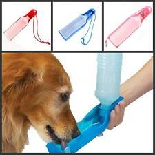 Potable 500ml Pet Dog Cat Water Feeding Drink Bottle Dispenser Travel A5J7