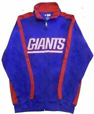 New York Giants NFL End Zone Full Zip Mens Track Jacket Big & Tall Sizes