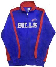 Buffalo Bills NFL End Zone Full Zip Mens Track Jacket Big & Tall Sizes