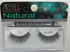 (LOT OF 10) Ardell Natural Lashes #105 False Fake Eyelashes Black Lash Eyelash