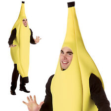 Adults Deluxe Banana Fancy Dress Costume New Unisex Stag Hen Party Fruit Outfit