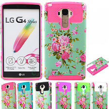 For LG G Stylo LS770/G4 Stylus Hybrid ShockProof Hard Protective Case Cover NEW