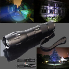 Zoomable 5000lm XM-L T6 LED Flashlight Torch Light  26650/18650 Battery+Charger