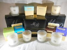 MIA BELLA'S GOURMET DESIGNER SPA SATIONS SPA CANDLE ~FROSTED GLASS ASSORTED