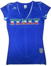 Team Italy Womens Superior V Neck Soccer Jersey Shirt Royal Blue Adult Sizes