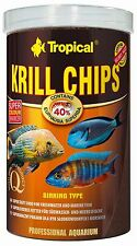 TROPICAL KRILL CHIPS Fish food with krill ,marine and freshwater fish food