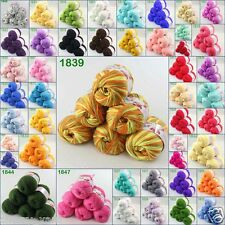 Sale Children soft 6skeinsx50g DK Cashmere Silk Wool hand knitting Baby Yarn