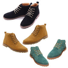 British Mens Casual Lace Suede Ankle Boots Loafers Shoes Sneakers WS