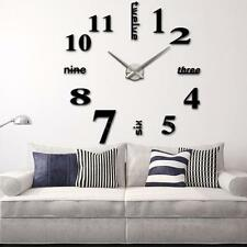Large Wall Clock DIY Large Watch Home Decor Living Room Bedroom Office UK Z7S8