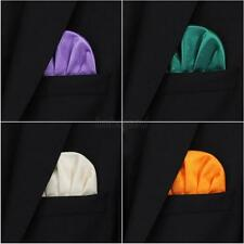 Men's Boys Pocket Square Polyester Handkerchief Hanky Wedding Party Suit Pocket
