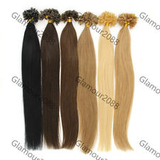 100S Pre Bonded Nail/U Tip Indian Remy Human Hair Extensions Straight Back Brown