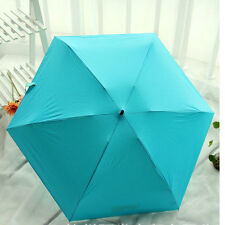 Women Candy color creative mini pocket Folding Umbrella Parasol Anti UV Sun/Rian
