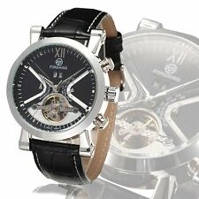 FORSINING Fashion Men's Date Leather Military Sport Automatic Wrist Watch New