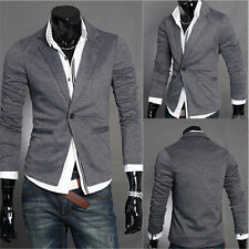 Fashion Stylish Men's Casual Slim Fit One Button Suit Blazer Coat Jacket Tops vc