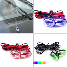 2x Wiper Washer Eyes Spout Windshield Glass Water Jet Spray Nozzle w/ LED Light
