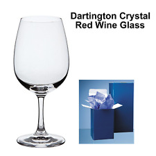 Personalised Dartington Crystal Branded Red Wine Glass Wedding B'day + Gift Box