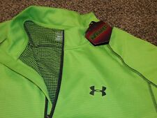 Men's UNDER ARMOUR FITTED 1/4 ZIP LONG SLEEVE PULLOVER SHIRT 1248937 326  Green