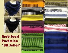 100% Cotton Shemagh / Arab Scarf / Pashmina / Wrap / Sarong. All Colours -NEW ab