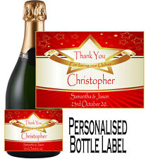 Personalised Wedding Day Bottle Label Gift Wine, Spirit or Champagne WDBL 15