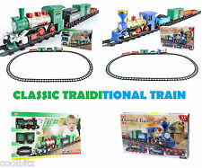 Kids Classic Train Track Set With Container Accesories With Light Sound & Smoke