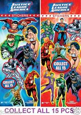 DC SUPERHERO STICKER SET JUSTICE LEAGUE AMERICA STICKERS 15 PCS OR 100 PCS