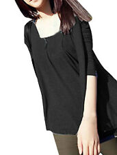 Women Scoop Neck Long Sleeve Loose Autumn Shirt Top Ysqnd