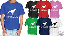 Personalised Kids Dinosaur Name T Shirt Top Clothes Kids Boys Girls children