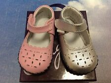 Pediped Originals Katelyn V Closure Leather Mary Janes Size Newborn-24 Months