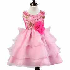 Flower Girl Tulle Dress Princess Pageant Party Communion Formal Wedding Ball
