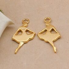 P1079 Wholesale Dancer Tibetan Silver jewelr accessories DIY Pendant 5-20pcs