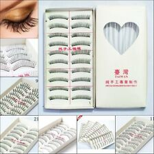 10Pairs New Makeup Handmade Natural Fake Long False Eyelashes Eye Lashes 09e
