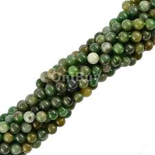 "Natural African Jade Gemstone Stone Spacer Loose Beads Jewelry Making 15"" Strand"