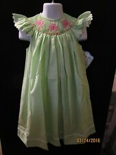 OCTOPUS SMOCKED LIME STRIPE ANGEL SLEEVE BISHOP DRESS BOUTIQUE REMEMBER NGUYEN