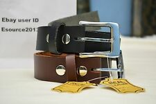 "GENIUNE 100 % LEATHER  BELT_AMISH HANDMADE_BELTS_MENS_1 1/2"" with FREE SHIPPING"