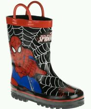 SPIDER MAN~BOYS~MARVEL COMIC~TODDLER GIRL BUTTERFLY~RUBBER RAIN BOOT~GARDEN~SHOE