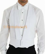 MENS WHITE TIE MARCELLA DRESS BACKLESS EVENING WAISTCOAT VEST | MARCELLA BOW TIE