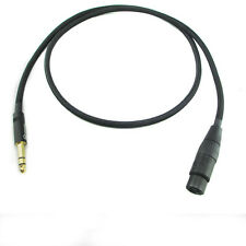 Y84 6.35mm1/4''  Jack TRS(male) to Balanced XLR(Female) OFC Audio Cable 2ft-10ft