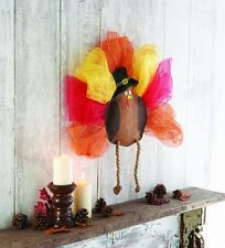 Mud Pie Autumn Mesh Thanksgiving Turkey Wreath