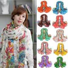 Style Women Lady Long Georgette Polyester Scarf Wraps Shawl Stole Soft Scarves