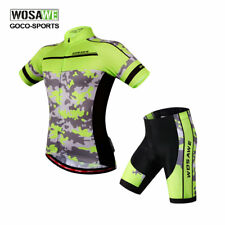 New Men Cycling Short Sleeve Bike Shirt Clothes Shorts Bicycle Sports Jersey Top