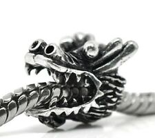 Antique Silver Dragon Charms beads For European Charm Bracelets Multi Variety