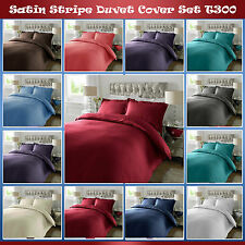 100% Egyptian Cotton 300 TC Duvet Cover Quilt Set With OXFORD Pillow Cases