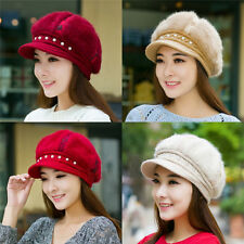 Winter Women Warm Knit Crochet Slouch Baggy Beanie Beret Hat Crochet Cap Fashion