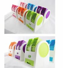 Mini Small Fan Cooling Portable Desktop Dual Bladeless Air Conditioner USB FT