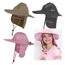 Outdoor Fishing Hiking Military Wide Brim Neck Cover Bucket Boonie Flap Hat Cap