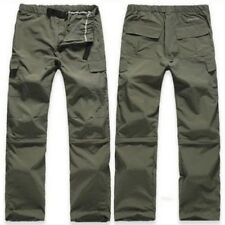 Mens Outdoor Quick Dry Short Pants Zip Off Leg Hiking Trousers Shorts Removable@