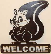Squirrel Welcome Sign Metal Wall Art Home Decor
